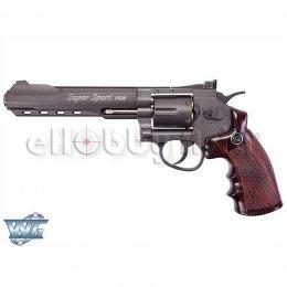 WinGun ปืนลูกโม่ .357 Magnum 6 นิ้ว Sport 702 Co2 Revolver BK wood