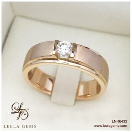 แหวนเพชรผู้ชาย Rose Gold