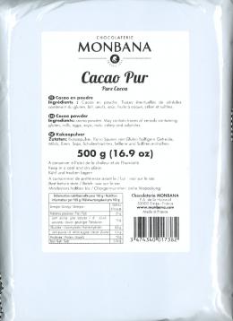 Monbana Pure Cocoa Powder 500g