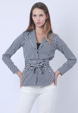 Strap Blouse With Long Sleeves