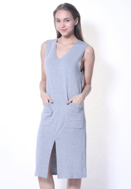 Rayon Dress Open Front