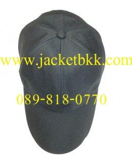 หมวกแก๊ป ผ้าลีวายสีดำ