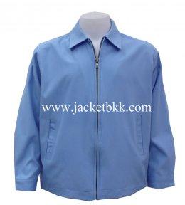 เสื้อแจ๊คเก็ตนำเข้า คอปกสีฟ้าพระราชินี