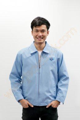 เสื้อแจ็คเก็ตสีฟ้า