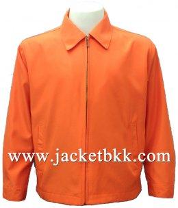 เสื้อแจ็คเก็ตนำเข้า คอปกสีส้ม