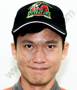 หมวกแก๊ปสีดำพร้อมปักโลโก้ PATONG ZIP LINE Adventure Phuket Thailand