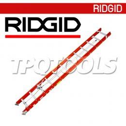 RIDGID บันไดไฟเบอร์กลาส สไลด์ 2 ตอน RL-FGE ขนาด 16-40 ฟุต
