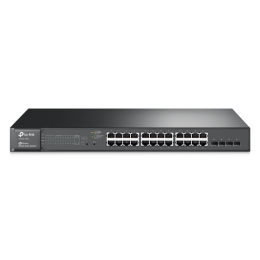 TP-LINK T1600G-28PS JetStream 24-Port Gigabit Smart PoE+ Switch with 4 SFP Slots