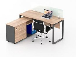 โต๊ะทำงานขาเหล็ก 1 ที่นั่ง