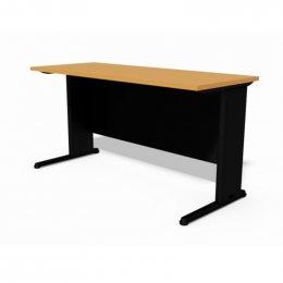 โต๊ะทำงานขาเหล็กพ่นดำ