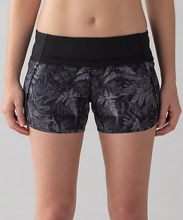กางเกงวิ่ง Lululemon - RUN TIMES SHORT่ : Black