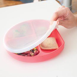 Bumkins Grip Dish Lid Clear - Single