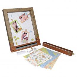 Gifthing ชุดกรอบรูป DIY เก็บความทรงจำ ขนาดกลาง Safari Medium Display Frame(Vintage Version)