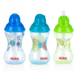 แก้วหลอดดูด Nuby Clik It
