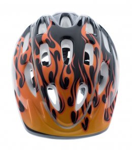 หมวกกันน็อคเด็ก Saker  ลายไฟ รุ่นพิเศษ มีไฟ LED - BLACK/Y