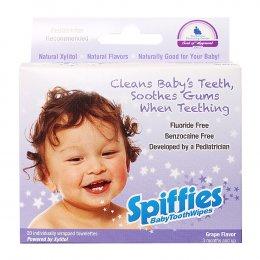 ผ้าเช็ดฟันสพิฟฟีส์ สำหรับเด็ก รสองุ่น Spiffies Baby Tooth Wipes