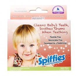 ผ้าเช็ดฟันสพิฟฟีส์ สำหรับเด็ก รสแอปเปิ้ล Spiffies Baby Tooth Wipes