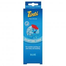สบู่ระบายหน้าและตัวสีฟ้า  - Tinti