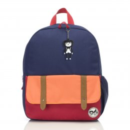 Zip & Zoe กระเป๋าเป้สำหรับเด็ก ลาย Navy Colour Block
