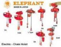 รอกโซ่ไฟฟ้า - รอกโซ่มือสาว - รอกสลิงมือโยก - HOIST ยี่ห้อ ELEPHANT (ตราช้าง)