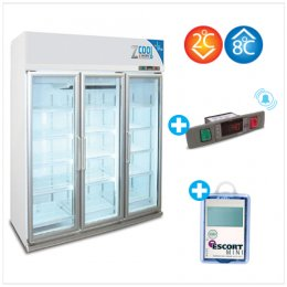 Z-Cool 2-8 °C, Refrigerator 3 door with Alarm & Intelligent