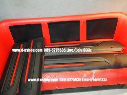 กันกระแทกข้างประตูดำด้านตัดแดงตรงรุ่นFord Ranger All New รุ่นSporty