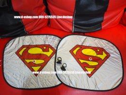 ม่านบังแดดข้างประตูลาย Super Man แพ็คคู่สำหรับรถทุกรุ่น