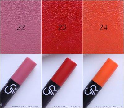 Golden Rose 3 matte Lipstick Crayon พกกล่องเดียวแต่เปรี้ยวได้ทุกงาน!