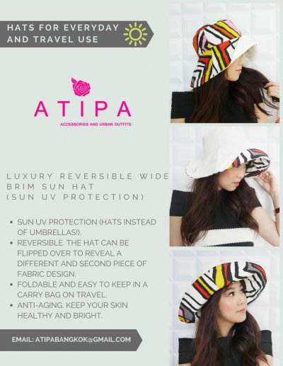 Benefits for ATIPA reversible wide brim sun hat.