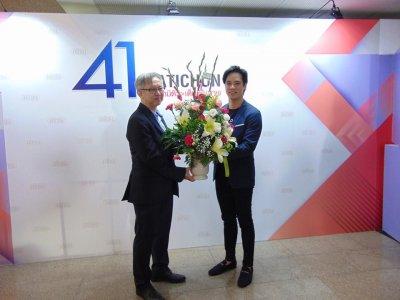 บริษัท สมาร์ท ไอดี กรุ๊ป จำกัด (Anitech)  เข้าร่วมมอบกระเช้าดอกไม้แสดงความยินดี