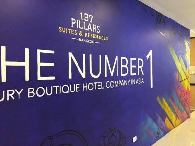 """137 Pillars Suites & Residences"" Wall Painting"